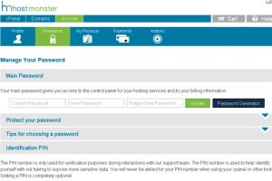 hostmonster主机password