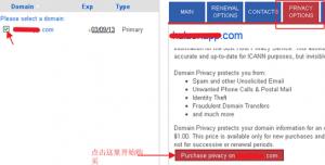 域名隐私保护设置
